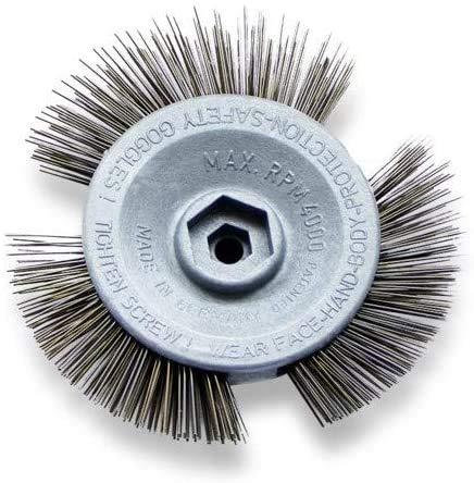 Scheibenbürste Metall   Für alle Bohrmaschinen geeignet   Alternative zum Rostumwandler   Schleifaufsatz für Metall, Rost & Lack