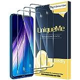 UniqueMe [3 Pack] Protector de Pantalla para Xiaomi Redmi Note 7 / Note 7 Pro/Note 8, Vidrio...