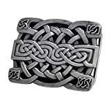 hebilla de cinturón rectangular con nudo celta, hebilla de cinturón occidental Keltic para hombres y mujeres, hebilla de cinturón con nudo celta escocés irlandés Keltic para hombres