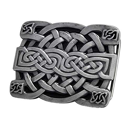 Belt Buckle, Rectangle Celtic Knot Kilt Belt Buckle Western Keltic Buckles for Men Women, American Keltic Irish Scottish Celtic Knot Belt Buckle for Men, Fashion Western Belt Buckle for Men and Women
