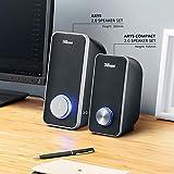 Trust Arys 2.0 USB Lautsprecher Set (28 Watt, 3,5mm Klinke, USB-Stromversorgung, für PC, Laptop, Tablet und Smartphone) schwarz - 6