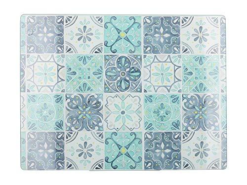 Creative Tops - Protector de encimera de cristal con azulejos (40 x 30 cm), multicolor