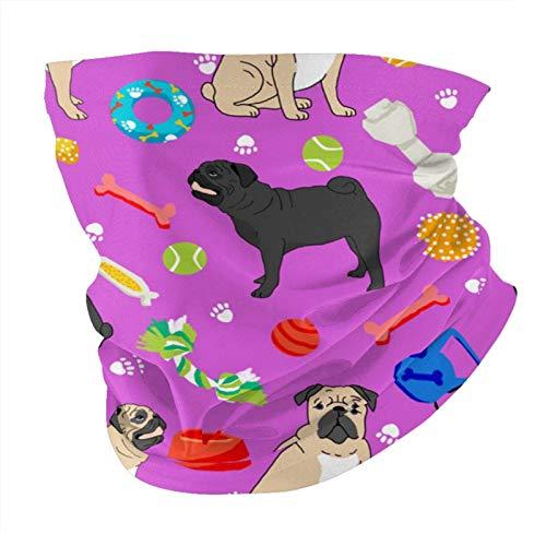 Xinflag@10 Mascarilla facial negra y bronceada con juguetes para perros, máscara facial magenta multifuncional, bandanas y polaina para el cuello, variedad de tubos, bufanda antipolvo, máscara facial