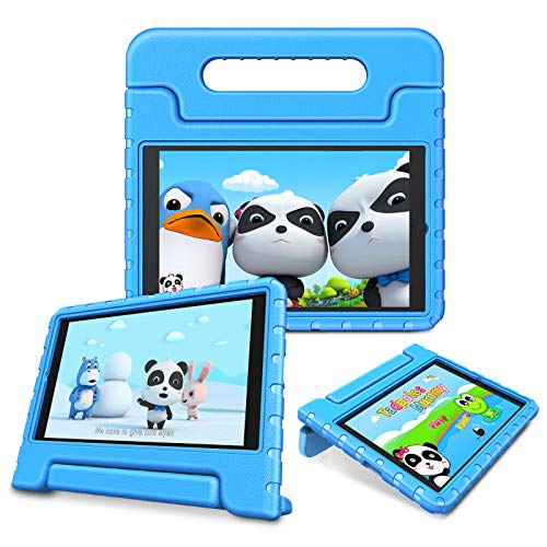 Fintie Shockproof Case for Onn. 8' Tablet Pro - Kids Friendly Light Weight Convertible Handle Stand Proctive Cover for Onn Pro 8-inch Android Tablet (Blue)