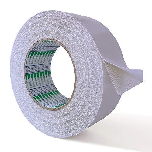Laimew Cinta de alfombra, Cinta adhesiva de doble cara para alfombras, tapetes, almohadillas y alfombras (5cm*25m)