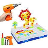 BelleStyle Puzzles 3D Montessori Juguetes 237PCS, Tablero de Mosaico Juguete eléctrico Rompecabezas Bricolaje construcción de Juguetes Rompecabezas Construcción Educativos Regalos para Infantiles