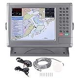 aqxreight - Navegador Marino, Pantalla LCD Impermeable IPX6 de 10,4 Pulgadas Navegación de Barcos con Alerta Sonora para XINUO-Map C-Map