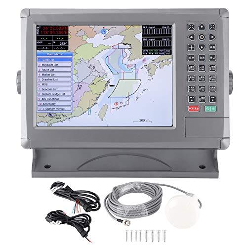 Plotter cartografico GPS marino da 10,4 pollici, navigazione della nave con display LCD impermeabile IPX6 con allarme acustico per XINUO-MAP C-Map