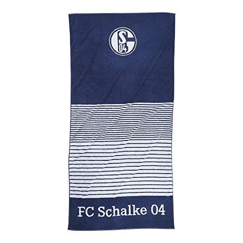 FC Schalke 22615 Duschtuch Streifen Marine