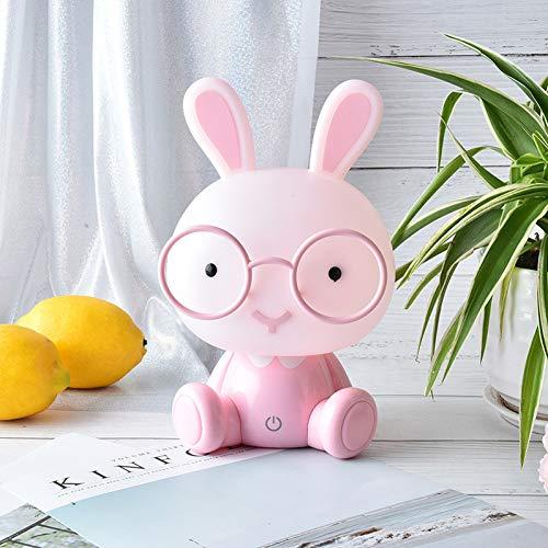 LANKOULI Nettes Baby-Studien-Schlafzimmer-Lampen-Kaninchen-Nachtlicht Führte Nachtlampe Weihnachtsgeschenk-Nachttisch-Dekor-Kinderglas-Kaninchen-Lichter 0-5W