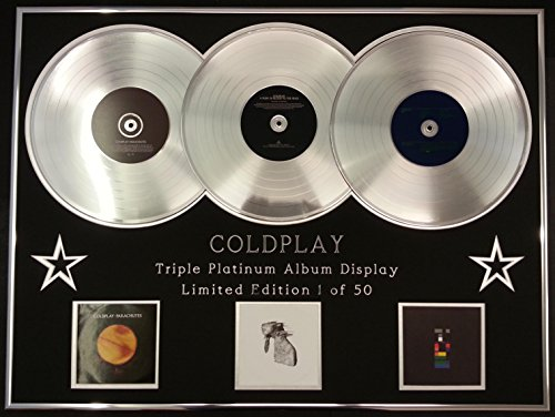 COLDPLAY/Dreifach-Platin Album anzeigen/Limitierte Edition/COA/PARACHUTES + RUSH OF BLOOD TO THE HEAD +X&Y