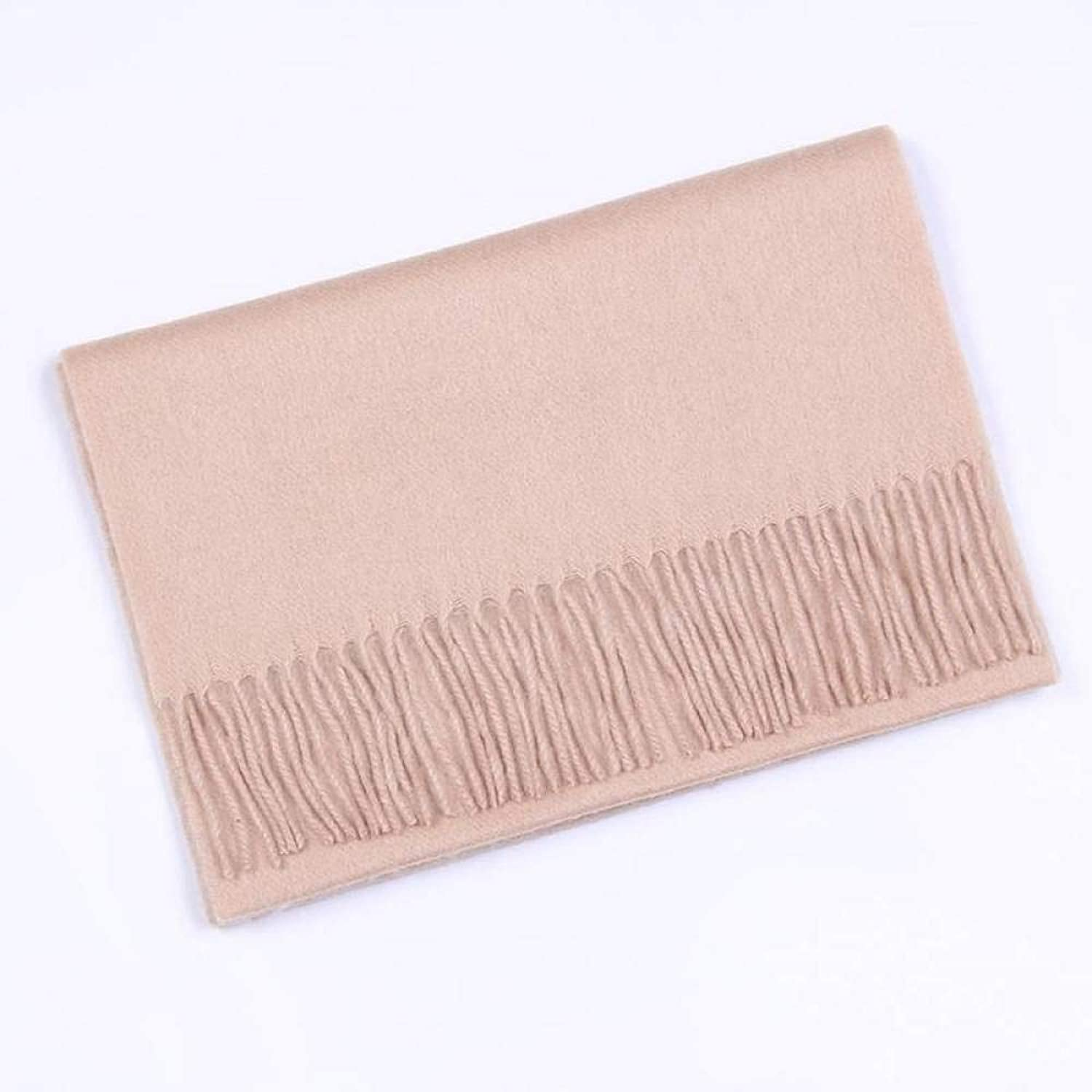 Cashmere Autumn and Winter Women Scarf Lightweight Warm Pure color Thickened Shawl Hqysjin