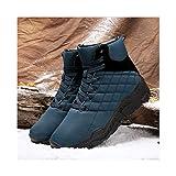 HaoLin Ejército Fan Tactical Montañismo Zapatillas Calzado Zapato Botines Invierno,Blue-42