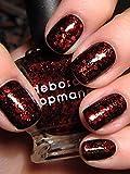 Deborah Lippmann - Esmalte de uñas con purpurina, color rojo rubí (15 ml)
