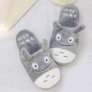 Qianyuyu Totoro Chaudes Pantoufles Pantoufles de Chinchilla de Dessin Animé Mignon Automne Hiver Enfant Fille Mignon Panda...