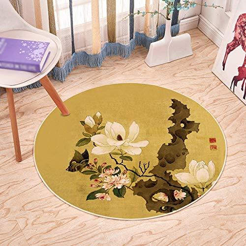 Jiamuxiangsi gebied tapijten niet slip-wasbaar slaapkamer woonkamer tapijt bureaustoel mat klassieke stijl kristal fluweel ronde tapijt tapijten & pads