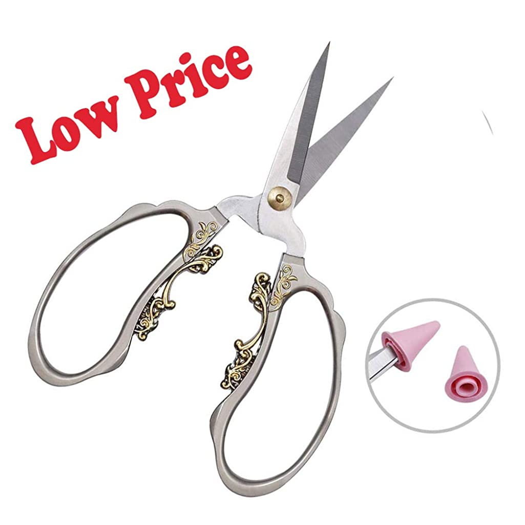 Embroidery Shears, Fashionable 6.1Inch Small Sharp Metal Scissors with Comfortable Grip,Work Supplies for Needlework,Sewing,Art Work,Embroidery,Cutting