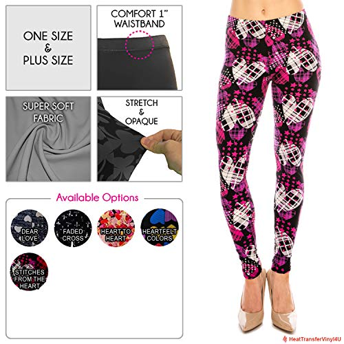 Women's Premium Ultra Soft Leggings (Stitches from The Heart, One Size)