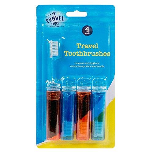Stalwart A-00415 Lot de 4 brosses à dents de voyage