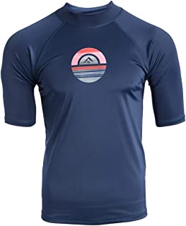 Kanu Surf Men's Mercury UPF 50+ Short Sleeve Sun Protective Rashguard Swim Shirt