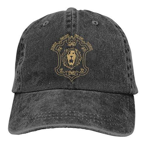 Pride of Lion Unisex Baseball-Cowboy-Hut, Retro, Sport, verstellbar, für Erwachsene, Schwarz