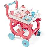 #0107 Kinder Spielzeug Servierwagen Disney Princess mit umfangreichem Zubehör und abnehmbarem Tablett ab 3 Jahren • Teeservice Puppengeschirr