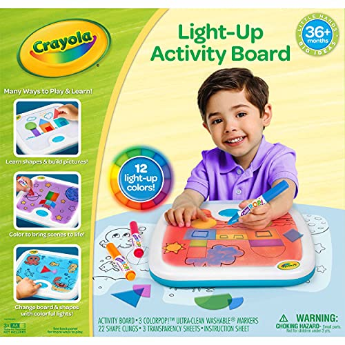 Crayola Light Up Activity Board, Educational Toy for Kids, Gift for Ages 3, 4, 5, 6