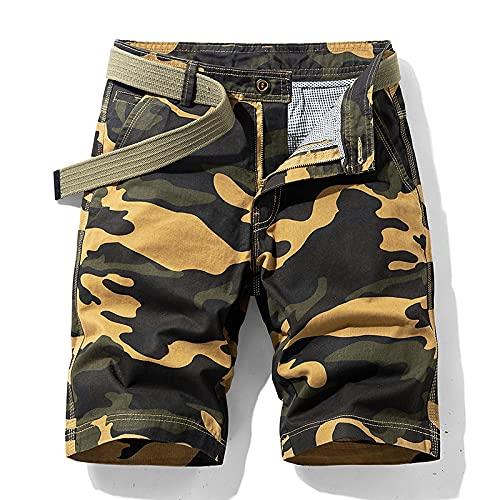 ShSnnwrl Pantaloncini da Uomo Summer New Men's Tactical Style Camouflage Military Uniform Casual Loose Shorts Cotton Breathable Work Waistl
