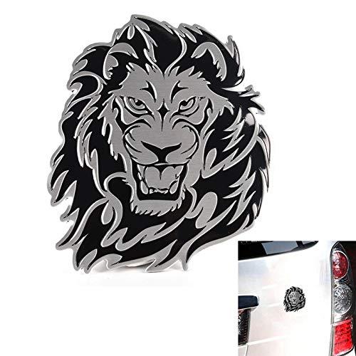 3D car Aluminum alloy sticker personality lion auto logo badge emblem tail decal
