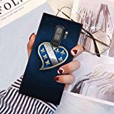Phone Case Fit Samsung Galaxy S9 Plus (2018) (6.2in) Bih Bosna Bosnia Hercegovina Ljiljani Rbih Republika Bosnian Heart Blue