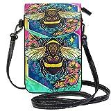 VJSDIUD Cartera del monedero del teléfono celular de la abeja para los bolsos del monedero pequeño de la muchacha de las mujeres