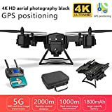 TOMATION KY601G GPS Drone Pliable avec Caméra 4k HD Transmission en Direct 5GHz WiFi FPV Retour Automatique Accueil WiFi FPV Vidéo en Direct Geste Photos RTF One Key Take Off/Landing Reliable