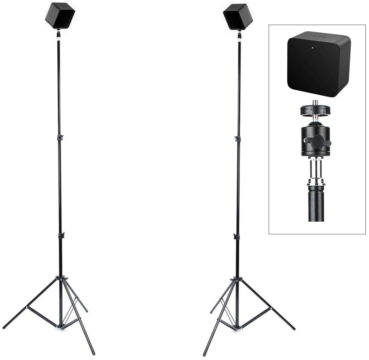 Skywin VR Tripod Stand HTC Vive Compatible Sensor Stand and Base Station for Vive Sensors or Oculus Rift Constellation (2-Pack)
