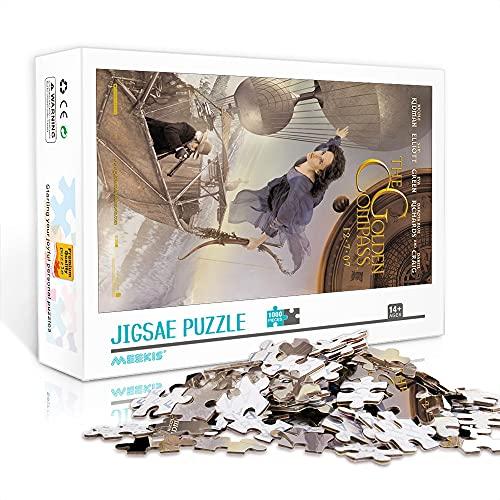 WJHXYD Mini Rompecabezas de 1000 Piezas para Adultos La brújula Dorada (dificultad Alta) Rompecabezas de decoración Juego Divertido de descompresión Intelectual 38x26cm