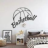 Calcomanías de pared de baloncesto con diseño de canasta de deportes para dormitorio o baloncesto, decoración del hogar, 42 x 33 cm