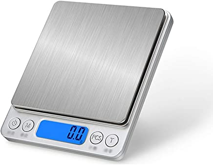 Kitchen Scales - Stainless Steel, Waterproof Body, Compact and Portable, Kitchen Miniature Digital Display Smart Brushed Food Baking metering Scale - 4 Range Optional (Size : 2kg)