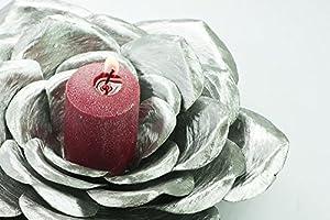 11th Anniversary Perfect Handmade Steel Rose Candle Holder Metal Art Sculpture
