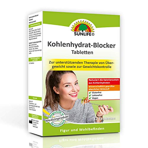 Sunlife Kohlenhydratblocker Tabletten, 32 Tabletten