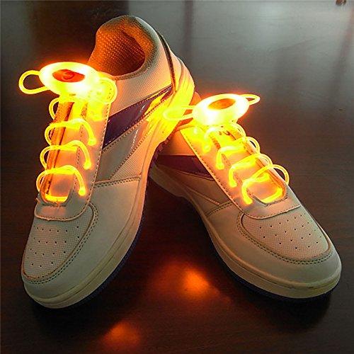 Xingyue Aile buitenverlichting & speelparaties geel 1 paar 80 cm Glow veters LED Sport veters Glow Stick knippert Neon oplichtende veters 1 stuk