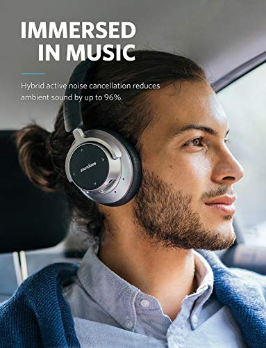 Anker Soundcore Space NC Wireless Noise Cancelling Headphones with Touch Control, 20-Hour Playtime, Foldable Design for Travel, Work, and Home