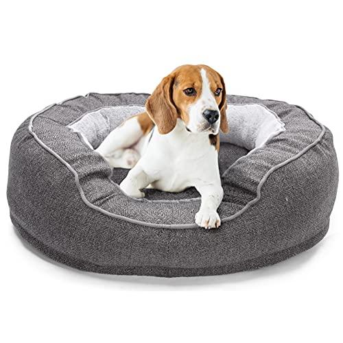 Anipark Cama para Perros, Cama Ortopédica de Espuma con Memoria para Perros/Gatos Pequeños/Medianos, con Funda extraíble y Lavable y Fondo Antideslizante - Gris