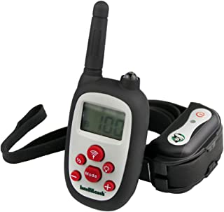 Intellileash Soft-Touch LCD Dog Training Collar Kit, Waterproof and Rechargeable with a 1000ft Range - Includes:Tone, Ligh...