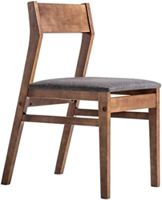 Kitchen Home Decor Dining Chairs Dining Table Chair Kitchen Chairs Nordic Simple Rubber Wood Backrest Cotton and Linen Modern Simplicity Household (Color : Smoke Gray Size : Primary Color Wood)