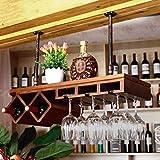 LLT Wine Rack, Cremagliera Della Decorazione Della Parete Della Novità, Wine Rack Mensola Di Vetro Europeo Legno per il Vino Titolare Del Soffitto Del Metallo Pendenti Montata Wine Glass Hanging Supp