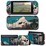 Auphar Games Skins Decal para Nintendo Switch, vinilo mate cubierta pegatina Wrap Protector Durable Full Set Anti-Scratch placa frontal Joy-Con consola Dock ilustración japonesa