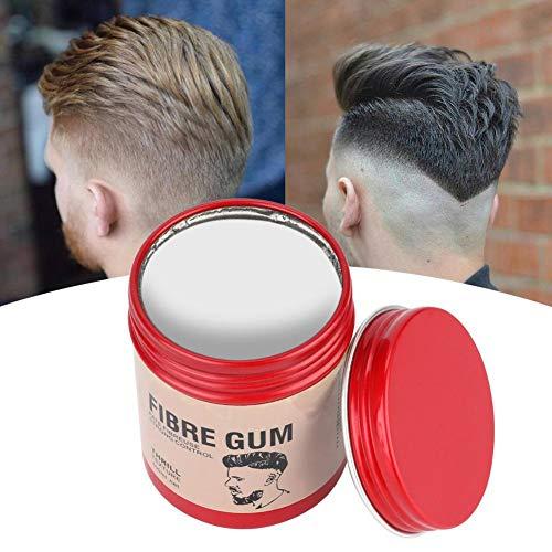 Filfeel wosume Huile Capillaire, Argile Capillaire pour Hommes Boue de Cheveux Moelleuse Longue durée pour la Coiffure 100g(Grey)