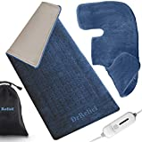Heating Pad Gift Set of 2 - King Size 18' x 25' Shoulder Heating Pad and 12' x 24' Fast Heating Wrap with Auto Shut Off for Back, Neck and Shoulder, Abdomen, Waist Pain Relief, Dry/Moist Option