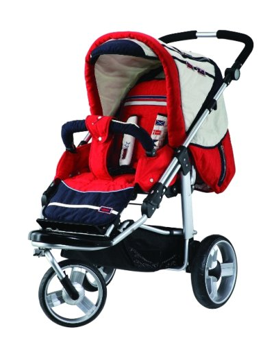 Babywelt 797294-232 - Kinderwagen / Jogger Oregon GTS, Design 232, Sunset Incl Tragetasche Varius XL