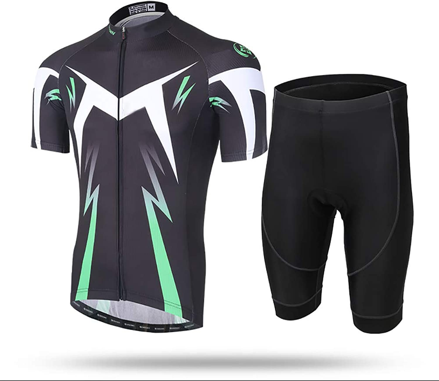 Men Cycling Clothing Set, Cycling Jersey + 3D Padded Pants Trousers Breathable QuickDry,Outdoor Cycling