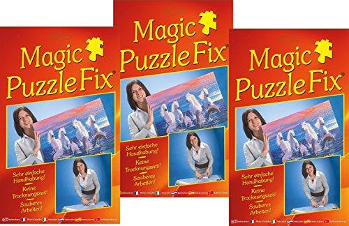 Magic Puzzle Fix (3er-Set)- Der innovative Puzzle-Kleber: Transparente Spezialhaftfolien | Einfach, sauber & Sicher! Geeignet für alle Puzzleformate!